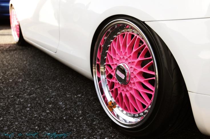 Jauni BBS rozā lietie vieglmetāla auto diski